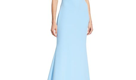 Badgley Mischka CollectionOff-the-Shoulder Short-Sleeve Mermaid Gown