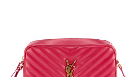 Loulou Monogram YSL Medium Chevron Quilted Leather Camera Shoulder Bag