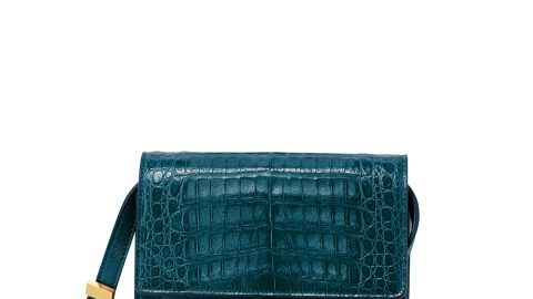 Gili Crocodile/Leather Crossbody Bag