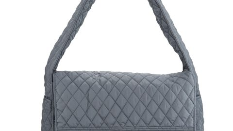 Quilted Shoulder Sack Bag