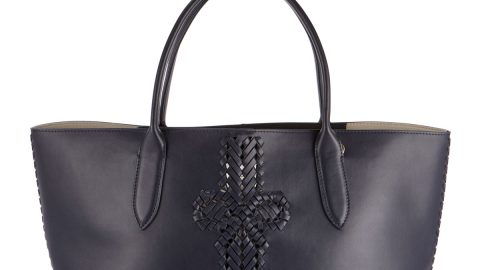 The Neeson Shopper Tote Bag, Dark Blue