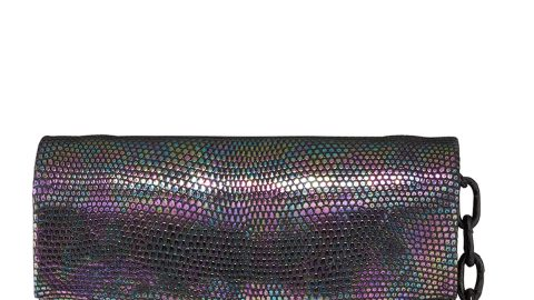 Eden Mini Holographic Lizard Crossbody Bag