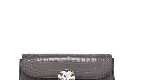 St. Cocco Crocodile-Embossed Crossbody Bag