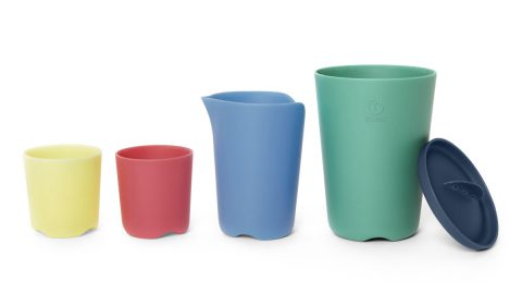 Flexi Bath Toy Multicolored Cups