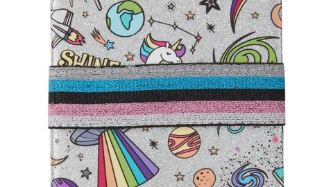 Girls' Galaxy-Print Shimmer Notebook