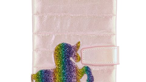Girls' Galaxy Crystal Rainbow Unicorn Notebook