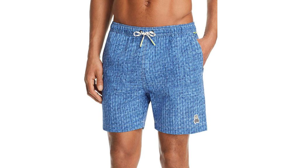 Purchase Psycho Bunny Crosshatch-Print Swim Trunks On Bloomingdale's Father's Day Sale Through Lemoney