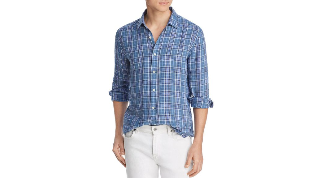 Purchase The Men Store At Bloomingdale's  Plaid Linen Classic Fit Shirt On Bloomingdale's Father's Day Sale Through Lemoney