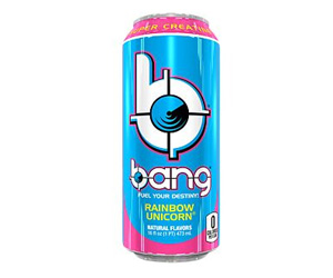 Bang Energy Drink with CoQ10 & Creatine - Rainbow Unicorn (12 Drinks).