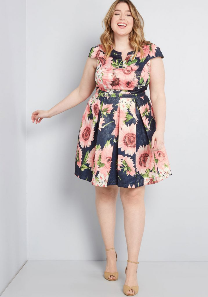 ModCloth Black Ffriday In July - Personal Boldness Fit And Flare Dress