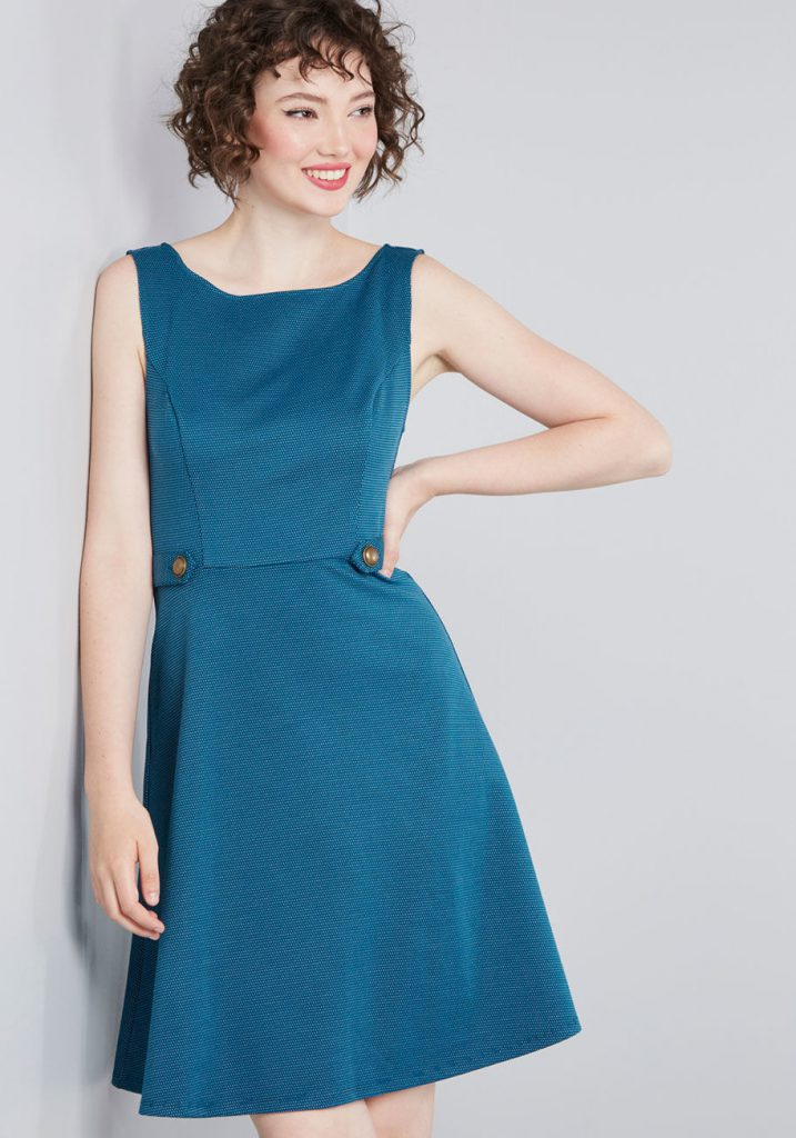 Modcloth Black Friday In July - Sixties Signature A Line Dress