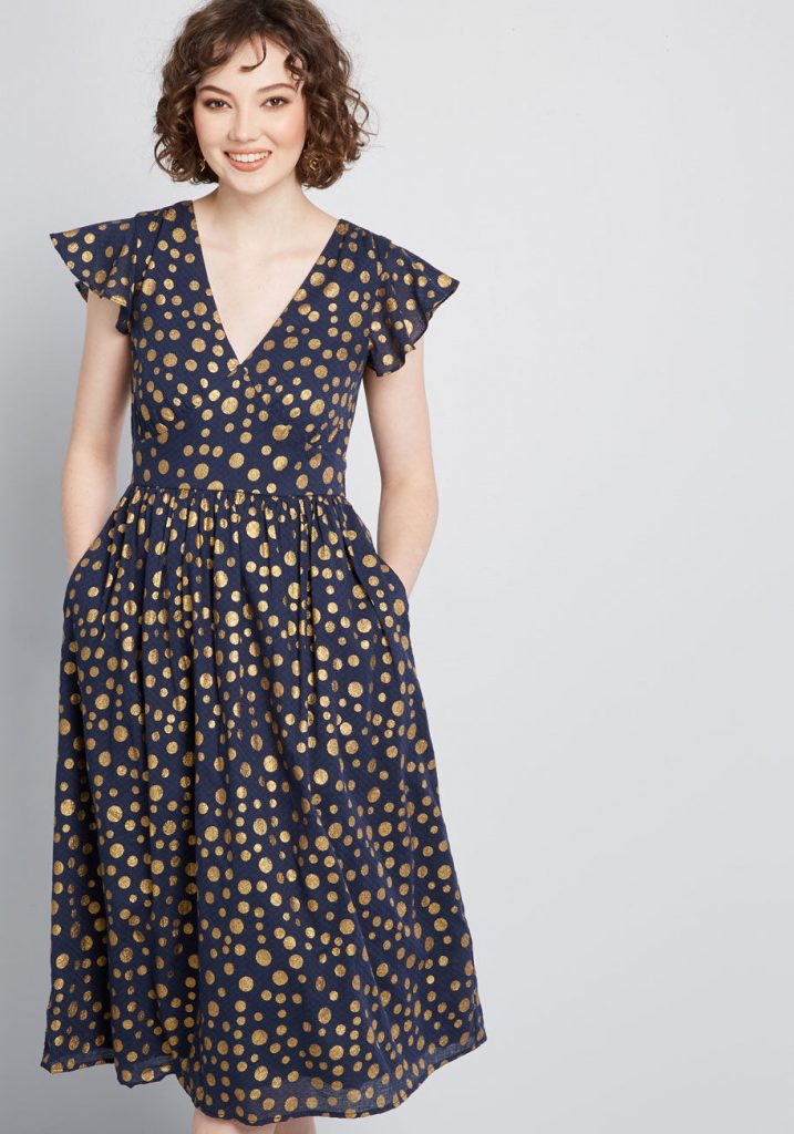 Modcloth Black Friday In July - Truly You Short Sleeve Dress