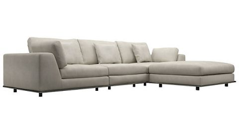 Perry Preconfigured Three Seat Sofa with Ottoman