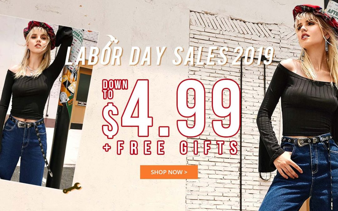 ZAFUL Labor Day Sale 2019: Down to $4.99 + Free Gifts