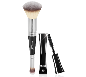 It Cosmetics Heavenly Luxe #7 Brush + Trial-Size Superhero Mascara - Only $48.00 with any Foundation Purchase!