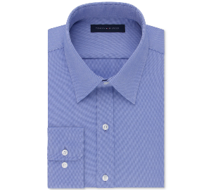 Tommy Hilfiger Men's Athletic Fit Performance Stretch TH Flex Collar Dress Shirt