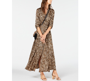 INC International Concepts I.N.C. Animal-Print Shirtdress