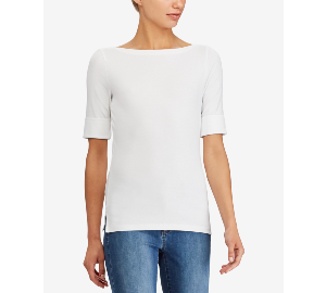 Ralph Lauren Stretch Boatneck Top