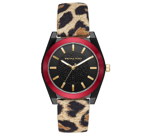 Michael Kors Women's Channing Animal Print Leather Strap Watch 40mm