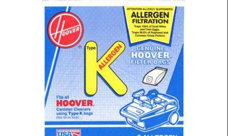 "HOOVER INC/TTI FLOOR CARE Hoover Style ""K"" Allergen Filtration Vacuum Bags, 3-Pack"