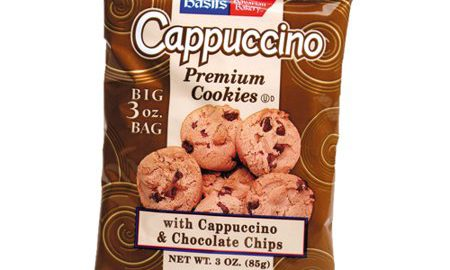 Basil's Cappuccino Cookies, Chocolate Chip, 3 Oz, 48 Ct