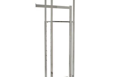 Clothing Rack â Black 4 Way Rack, High Capacity, Blade Arms, Square Tubing, Perfect for Clothing Store Display With 4 Straight Arms