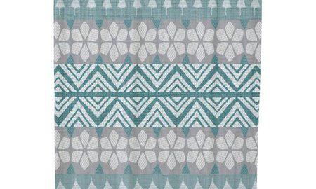 FairIsle Geometric Print Shower Curtain