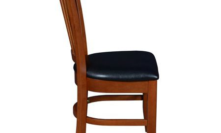 """Cain 42"""" Square Breakroom Table with 4 Zoe Caf © Chairs- Mahogany"""