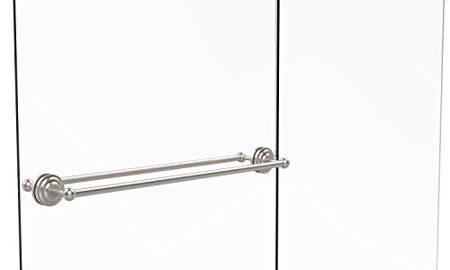 Que New Collection 30 Inch Back to Back Shower Door Towel Bar