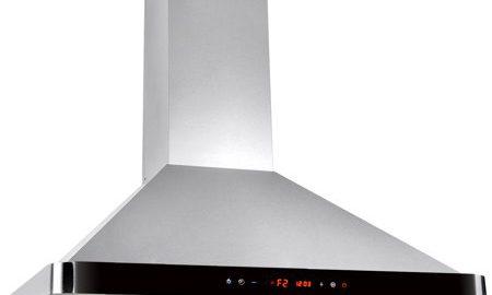 "AKDY 36"" Stainless Steel Kitchen Wall Mount Luxury LED Black Control Panel Range Hood"