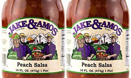 Jake and Amos Peach Salsa - 2 - 16 oz. Jars