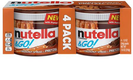Nutella Hazelnut Spead & Pretzels To Go, 4 - 1.9 oz