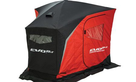 Eskimo 25502 EVO 2it Portable Flip Style Insulated Ice Shelter with Pop Up Hub Sides, 2 Person