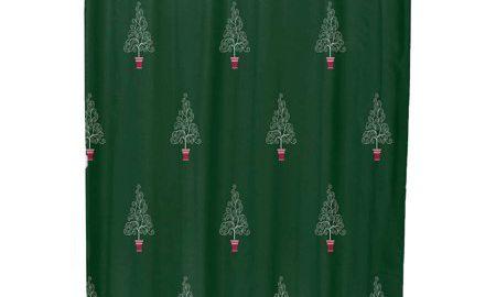 Filigree Forrest Geometric Print Shower Curtain