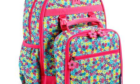 J World Duet Backpack With Detachable Lunch Bag, Floret