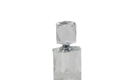 Salient Crystal Perfume Bottle, Clear