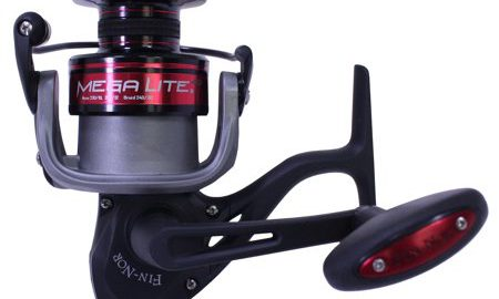 "Zebco / Quantum Fin Nor Mega Lite Spinning Reel 80, 4.9:1 Gear Ratio, 42"" Retrieve Rate, 5 Bearings, Left Hand, Boxed"