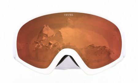 Traverse Iris Youth Ski, Snowboard, and Snowmobile Goggles, White & Ember