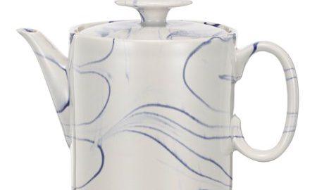 A Home Artist Fare Teapot, Blue