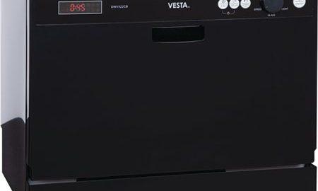 Vesta DWV322CB Black 120V Countertop RV Dishwasher