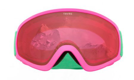 Traverse Iris Youth Ski, Snowboard, and Snowmobile Goggles, Magenta & Jade
