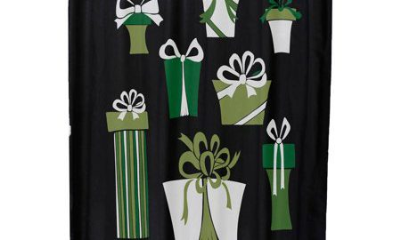 Present Time Geometric Print Shower Curtain