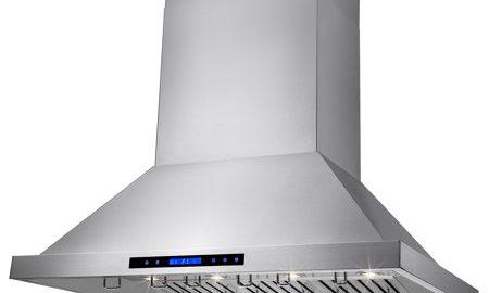 "AKDY 48"" Wall Mount Dual Motor Stainless Steel Touch Control Halogen Light Lamp Kitchen Cooking Fan Powerful Range Hood w/ Baffle Filter"