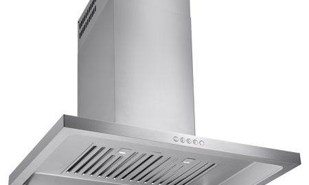"AKDY 30"" Euro Style Powerful Wall Stainless Steel Kitchen Range Hood Metal Fan Push Button Control Panel"