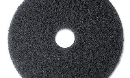 "3M Low-Speed Stripper Floor Pad 7200, 13"" Diameter, Black, 5/Carton"