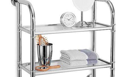 Neu Home 2 Tier Bath Shelf, Glass & Chrome
