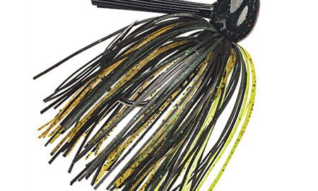 Strike King Lures Hack Attack Fluoro Flipping Jig 5/0 Hook, 1/2 oz, Texas Craw, Per 1