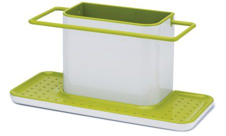 Joseph Joseph Caddy Large Sink Tidy in White and Green