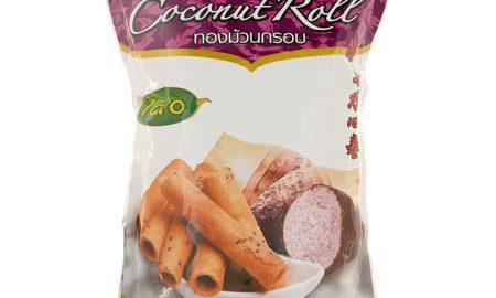 JHL, Thai Coconut Roll -Taro flavor crispy roll, 5.29 Ounce