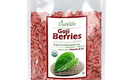 DureLife GOJI BERRIES 1 LB Large and juicy Sundried Berries from the Himalayas USDA Organic Certified